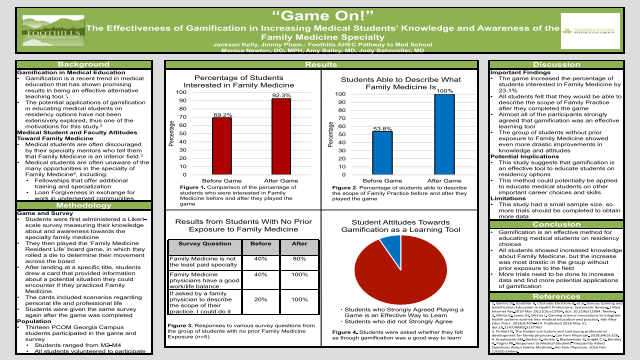"Pre-Med Student: ""Game On!"" The Effectiveness of Gamification in Increasing Medical Students"