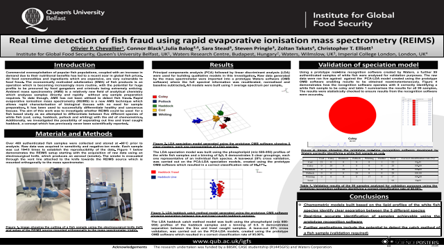 Real time detection of fish fraud using rapid evaporative ionisation mass spectrometry (REIMS)