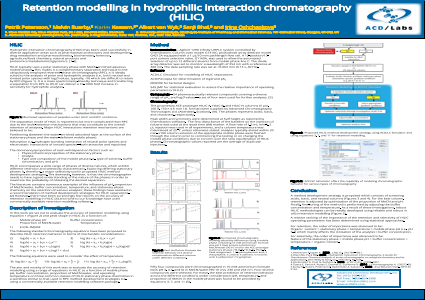 Retention modelling in hydrophilic interaction chromatography (HILIC)