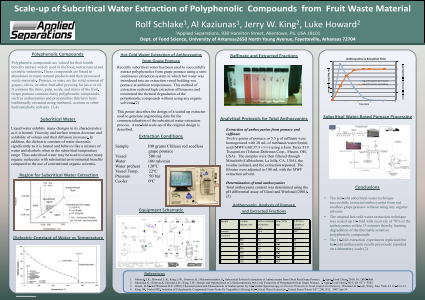 Scale-up of Subcritical Water Extraction of Polyphenolic  Compounds  from  Fruit Waste Material