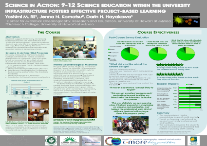 ePosters - Science in Action: 9-12 Science education within the ...