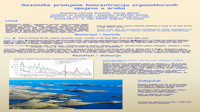 Seasonal changes in air organochlorine compound concentrations