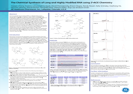 The Chemical Synthesis of Long and Highly Modified RNA using 2