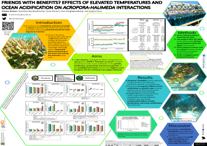 Friends with benefits? Effects of elevated temperatures and ocean acidification on Acropora-Halimeda interactions