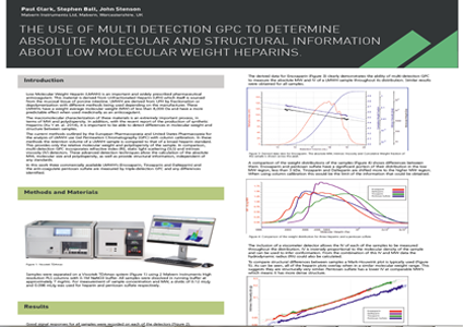 The use of multi detection GPC to determine absolute molecular and structural information about low molecular weight Heparins