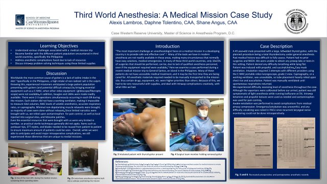 Third World Anesthesia: A Medical Mission Case Study