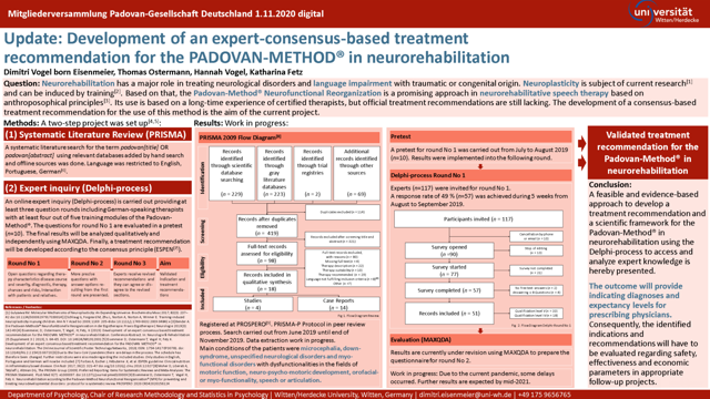 Update: Development of an expert-consensus-based treatment recommendation for the PADOVAN-METHOD® in neurorehabilitation