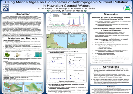 USING MARINE ALGAE AS BIOINDICATORS OF ANTHROPOGENIC NUTRIENT POLLUTION IN HAWAIIAN COASTAL WATERS