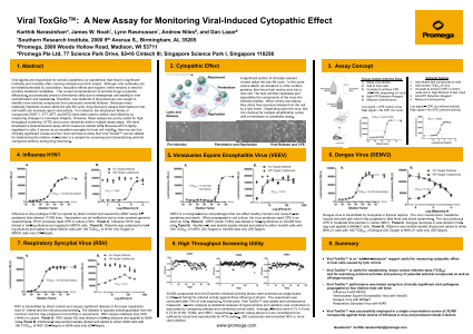 Viral ToxGlo™:  A New Assay for Monitoring Viral-Induced Cytopathic Effect