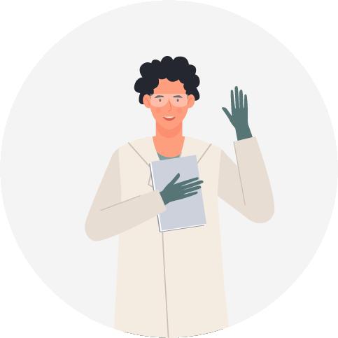 一个科学家主动举起右手。