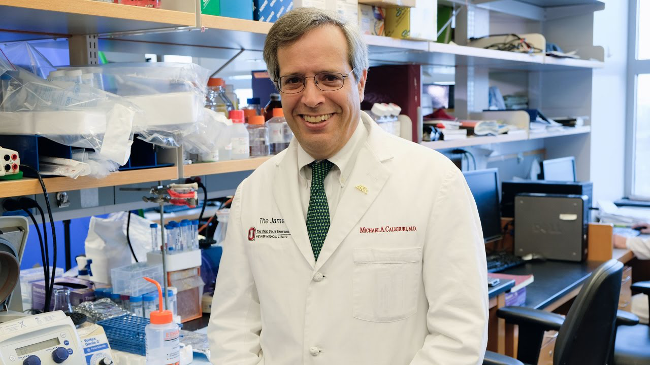 American Association for Cancer Research (AACR) President 2017-2018, Michael A. Caligiuri, MD, CEO of the James Cancer Hospital and Solove Research Institute and The Ohio State University Comprehensive Cancer Center