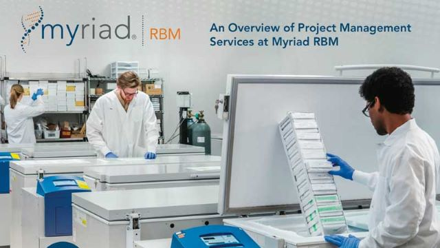 Project Management Services at Myriad RBM
