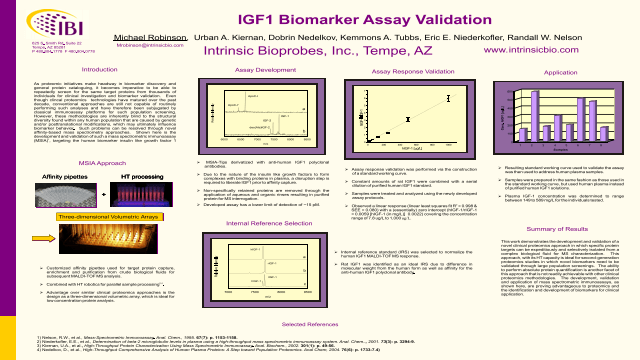 IGF1 Biomarker Assay Validation