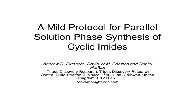 A Mild Protocol for Parallel Solution Phase Synthesis of Cyclic Imides