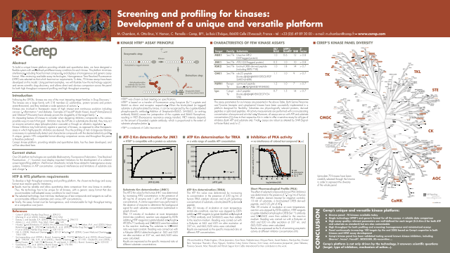 Screening and Profiling for Kinases: Development of a Unique and Versatile Platform