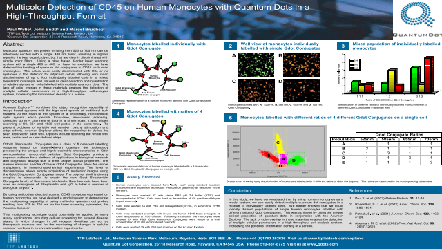 Multicolor Detection of CD45 on Human Monocytes with Quantum Dots in a High-Throughput Format