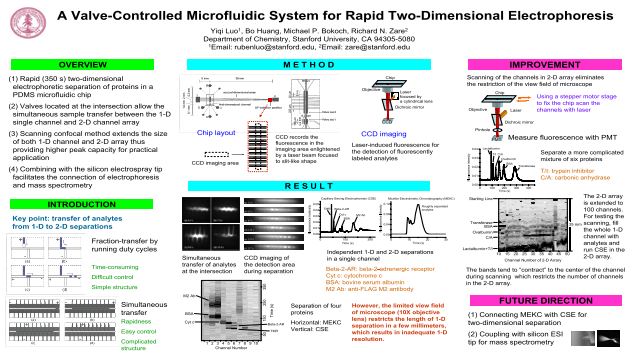 A Valve-Controlled Microfluidic Sysytem for Rapid Two-Dimensional Electrophoresis