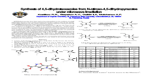 Synthesis of 4,5-dihydroisoxazoles from N-nitroso-4,5 dihydropyrazoles under Microwave Irradiation