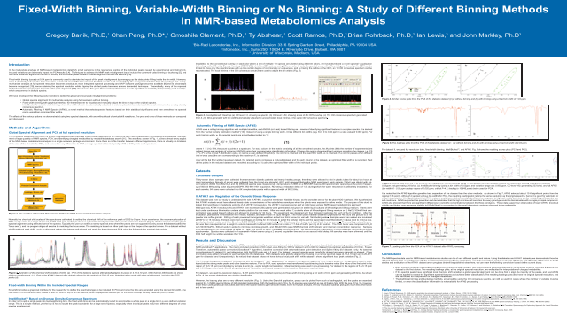 Fixed-Width Binning, Variable-Width Binning or No Binning: A Study of Different Binning Methods in NMR-based Metabolomics Analysis