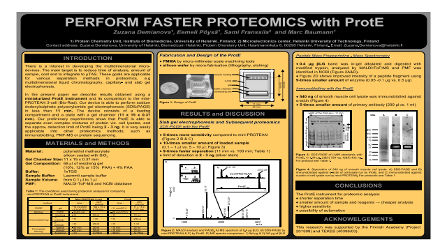 Peform Faster Proteomics with ProtE