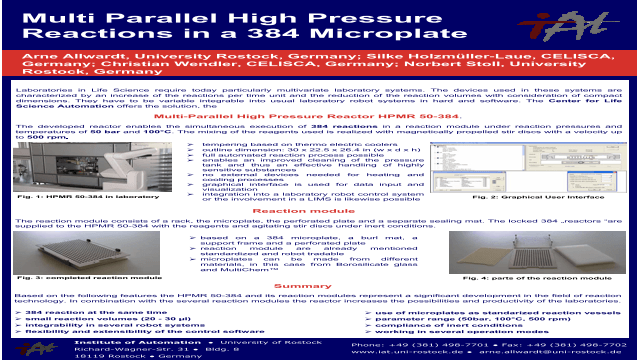Multi Parallel High Pressure Reactions in a 384 Microplate