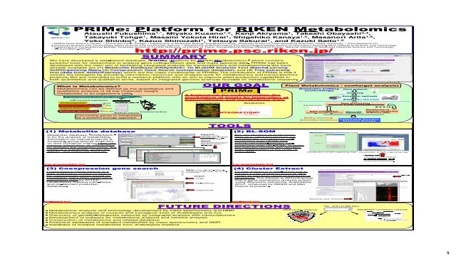 PRIMe: Platform for RIKEN Metabolomics