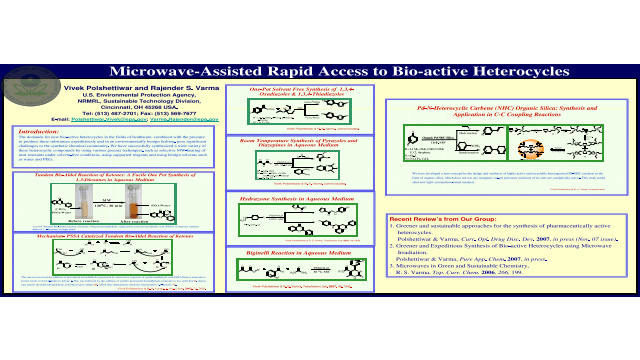 Microwave-Assisted Rapid Access to Bio-active Heterocycles