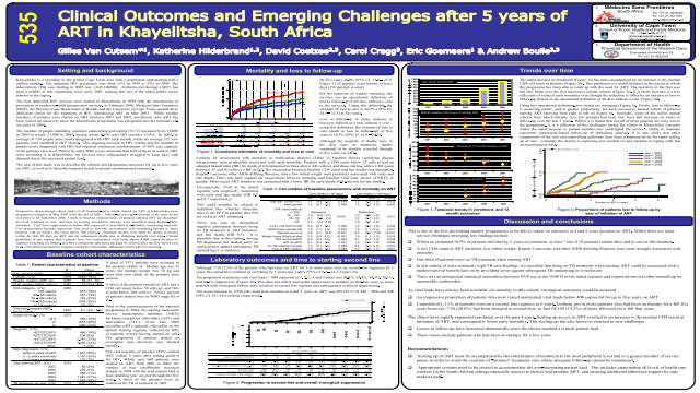 Clinical Outcomes and Emerging Challenges after 5 years of ART in Khayelitsha, South Africa