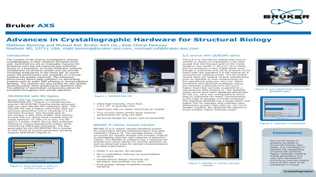 Advances in Crystallographic Hardware for Structural Biology