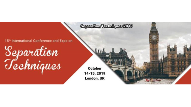15th International conference on Separation Techniques 2019