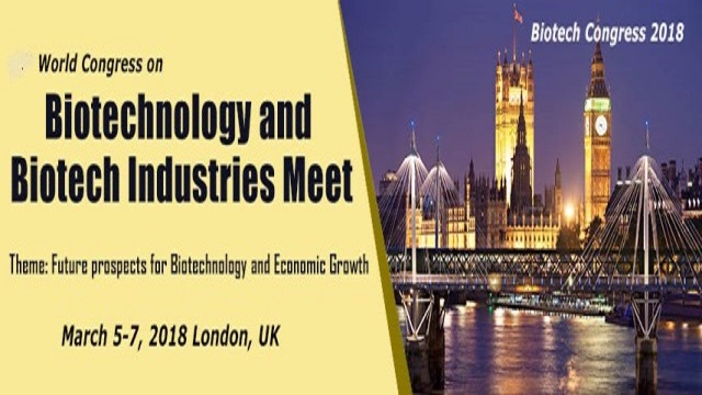 20th World Congress on Biotechnology and Biotech Industries Meet