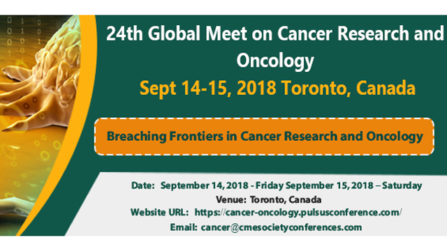 24th Global Meet on Cancer Research and Oncology