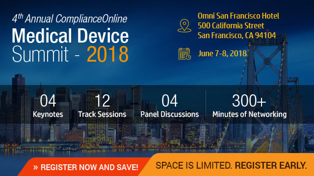 4th Annual ComplianceOnline Medical Device Summit 2018