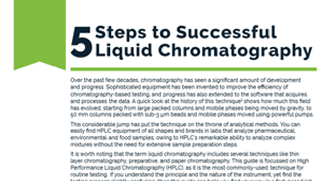 5 Steps to Successful Liquid Chromatography