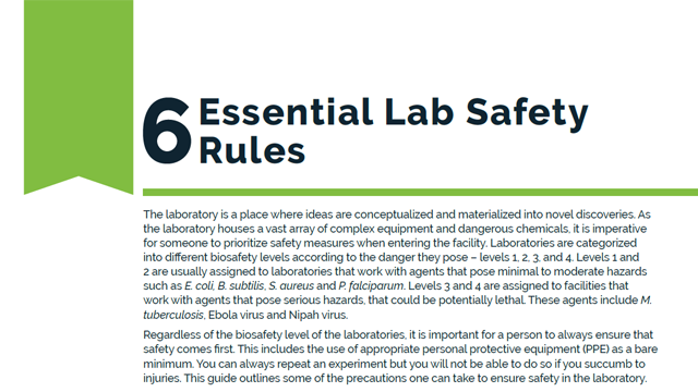 6 Essential Lab Safety Rules