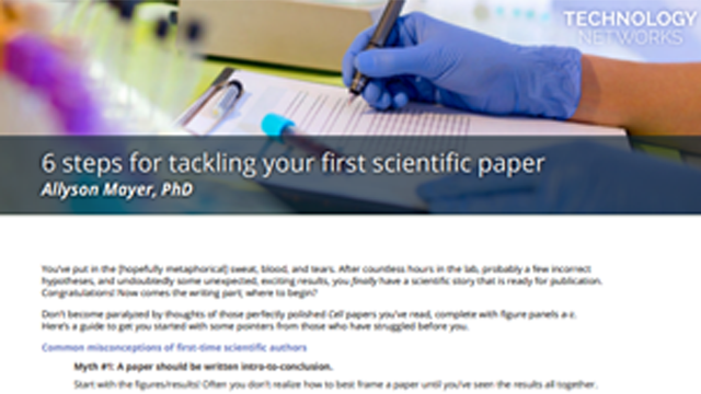 6 Steps for Tackling your First Scientific Paper