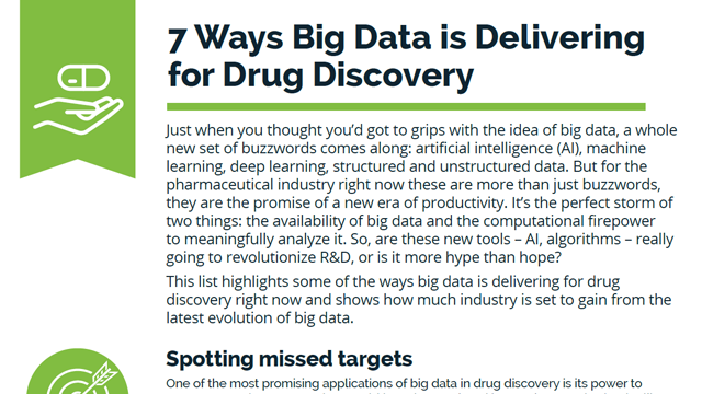 7 Ways Big Data is Delivering for Drug Discovery