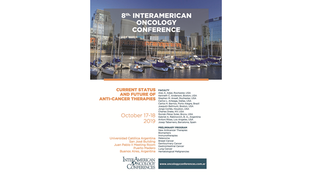 8th InterAmerican Oncology Conference 'Current Status and Future of Anti-Cancer Therapies'