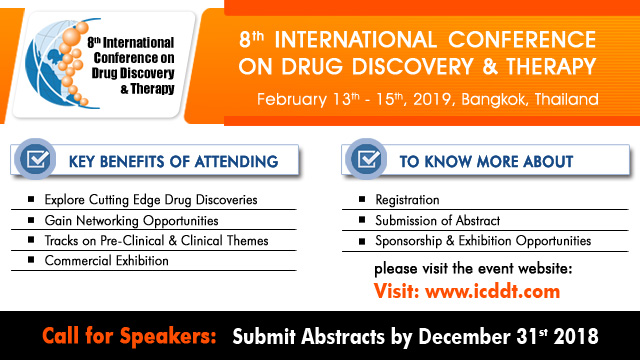 8th International Conference on Drug Discovery and Therapy