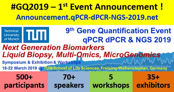 9th Gene Quantification Event -- qPCR dPCR & NGS 2019