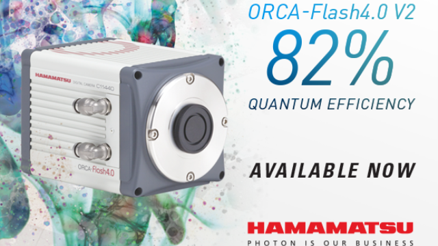 It's here! The new QE-enhanced ORCA-Flash4.0 V2 with 82 % peak QE