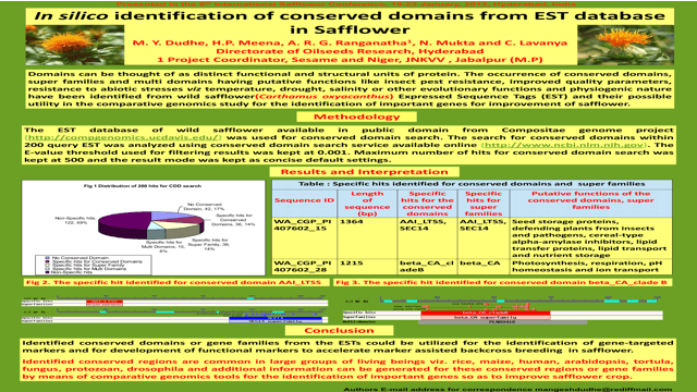 In Silico Identification of Conserved Domains from EST Database in Safflower