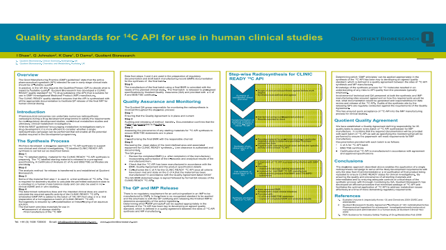 Quality Standards for 14C API for use in human clinical studies
