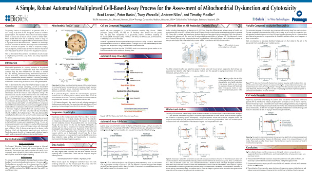 A Simple, Robust Automated Multiplexed Cell-Based Assay Process for the Assessment of Mitochondrial Dysfunction and Cytotoxicity
