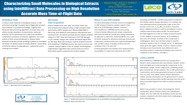 Characterizing Small Molecules in Biological Extracts using IntelliXtract Data Processing on High Resolution Accurate Mass Time-of-Flight Data