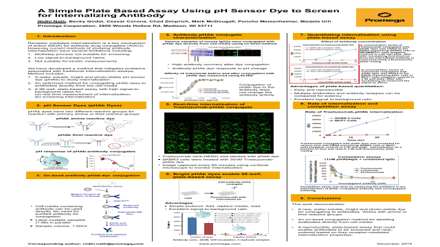 A Simple Plate Based Assay Using pH Sensor Dye to Screen for Internalizing Antibody