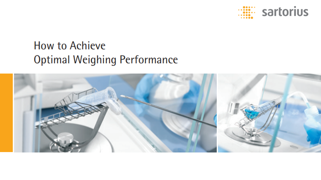 Achieve Optimal Weighing Performance