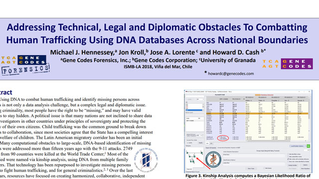 Combatting Human Trafficking Using DNA Databases Across National Boundaries