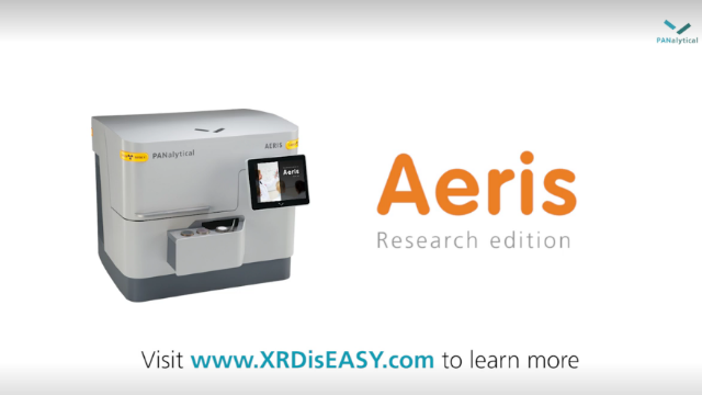 Aeris Research edition benchtop XRD: big analytical capability in a small footprint