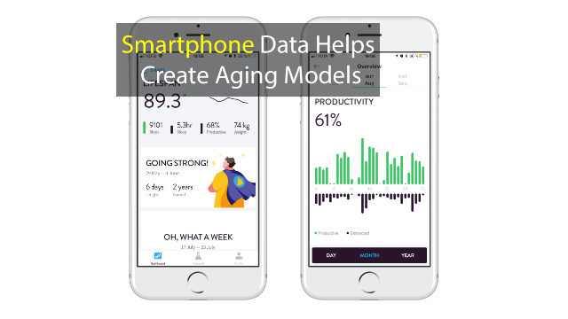 Age Biomarkers Produced from Smartphone Data